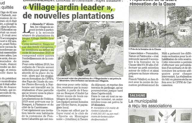 Village jardin Leader